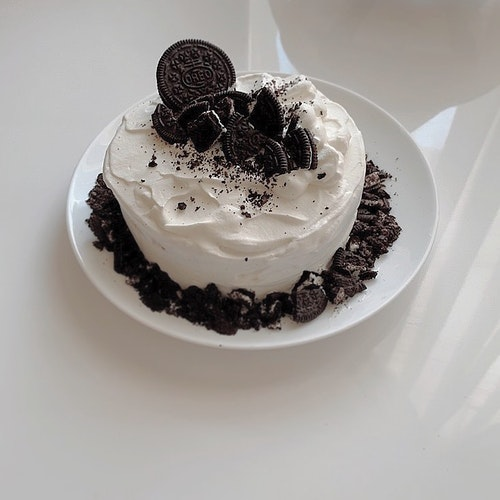 手作りオレオケーキ