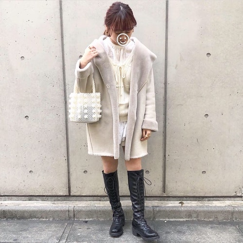 ミニ丈×ブーツ
