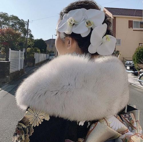 【成人式】大きなお花のヘアアクセ