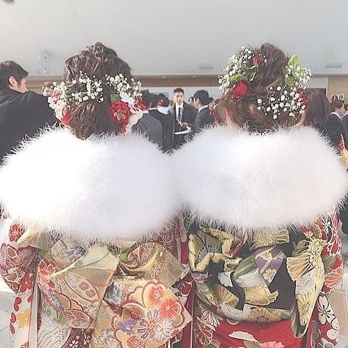 【成人式】ショールマフラー