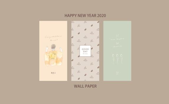 【無料DL】㊗2020🐭NEW YEAR壁紙プレゼント🧧