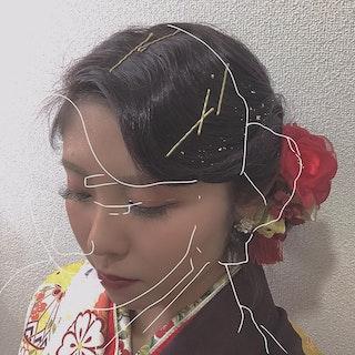 【成人式】フィンガーウェーブヘア