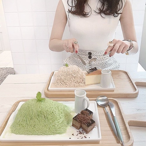 Seoulcafeの糸かき氷