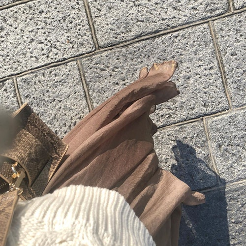 whoswhochicoの箔プリントスカート