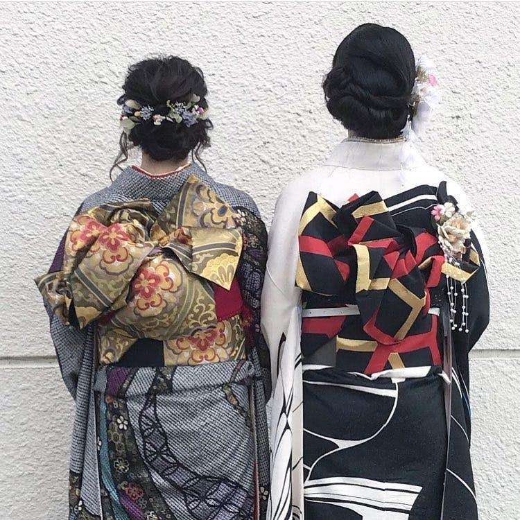 【成人式】暗いろ着物