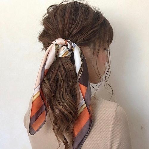 スカーフヘアアレンジ