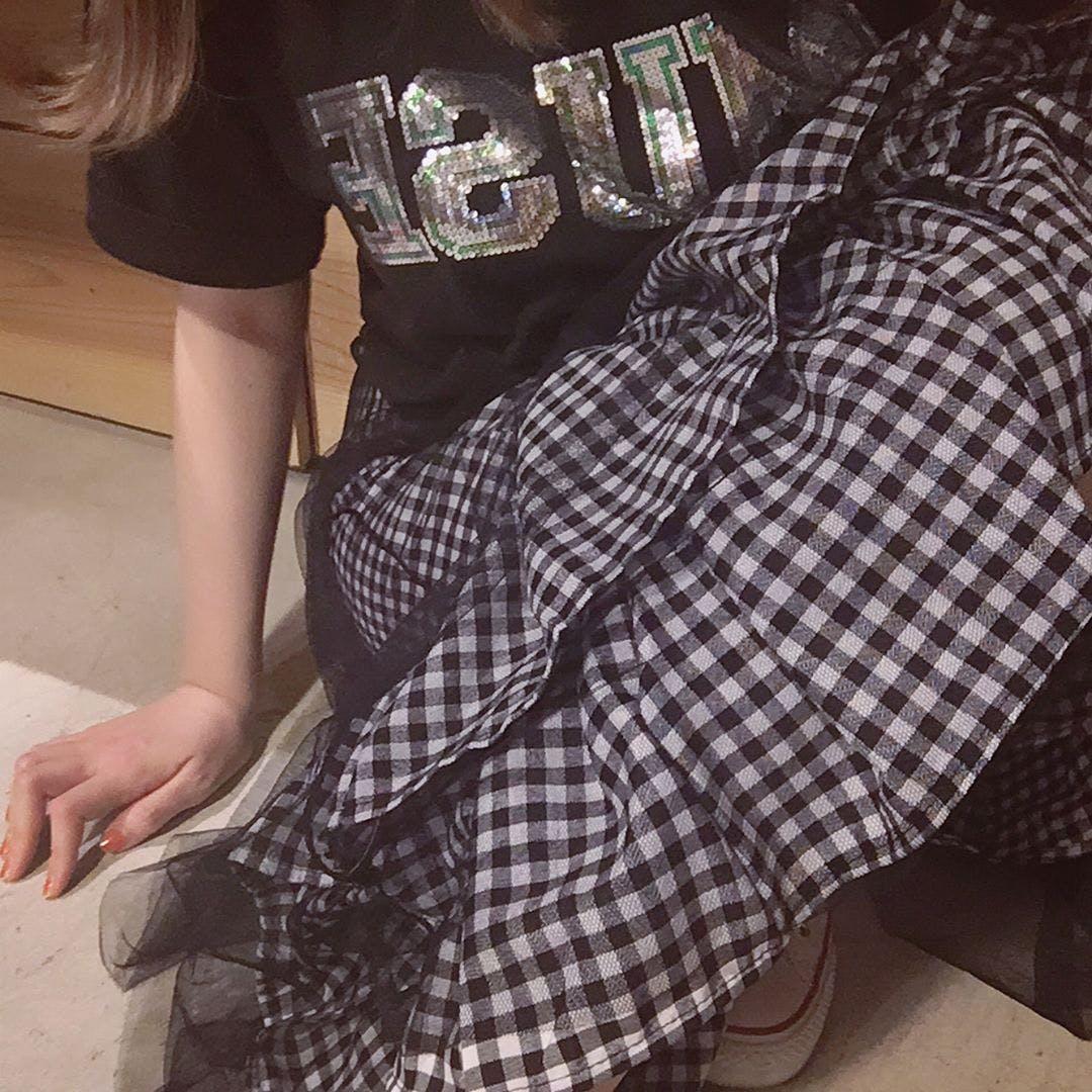 ギンガムスカート