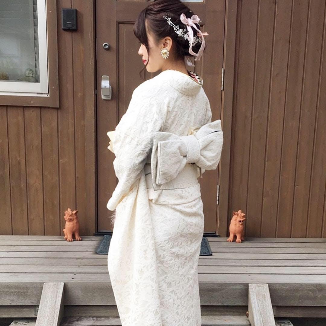 【成人式】淡いろ着物