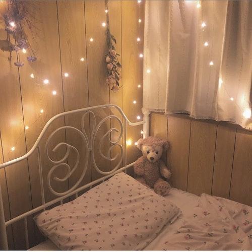 IKEA花柄ベッドカバー