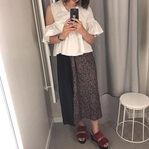 ヒョウ柄ロングスカート