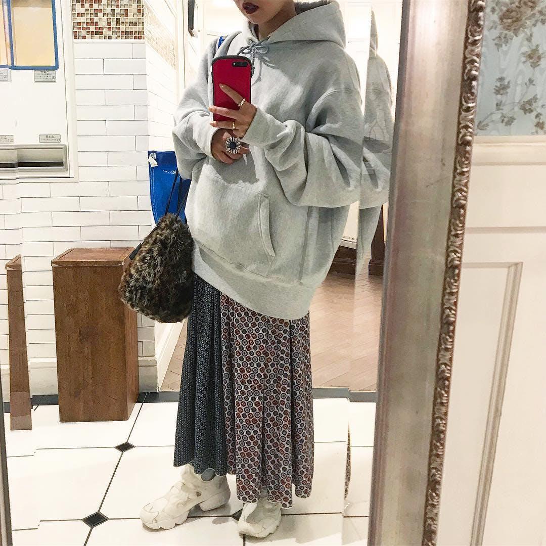 柄×柄スカート