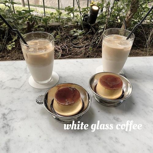 WHITE GLASS COFFEE