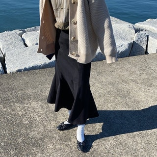 ブラック×マーメイドスカート