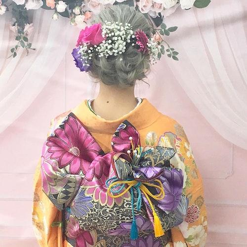 【2020成人式】オレンジ・イエロー系振袖