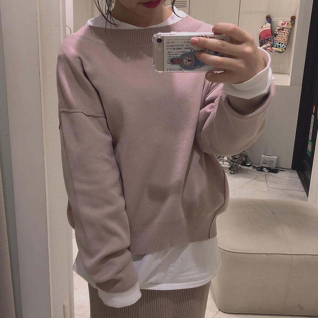 くすみピンク