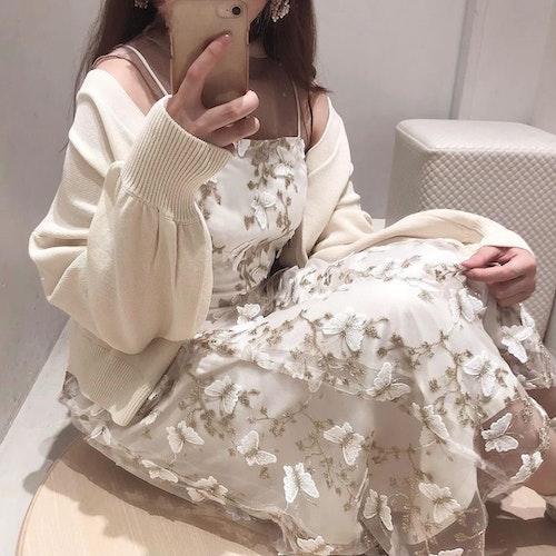 シアーバタフライブラウス&ドレス