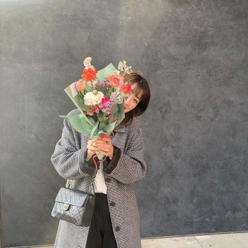 ラッピングがかわいいお花屋さん