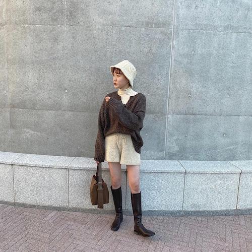 冬の帽子コーデ