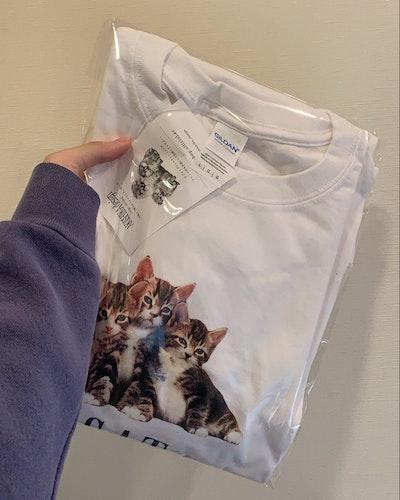 猫プリントT