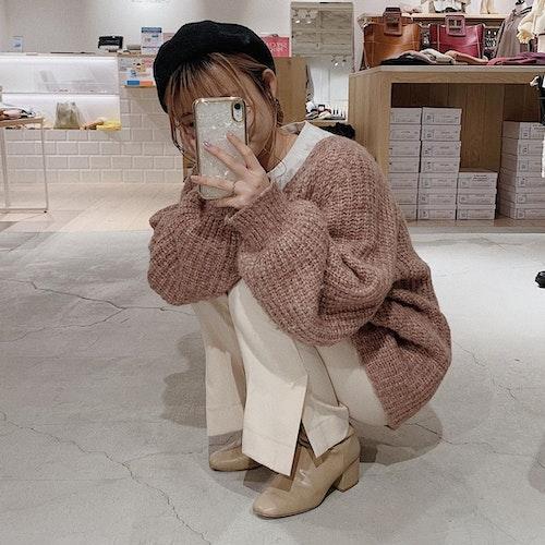 白×ピンクコーデ
