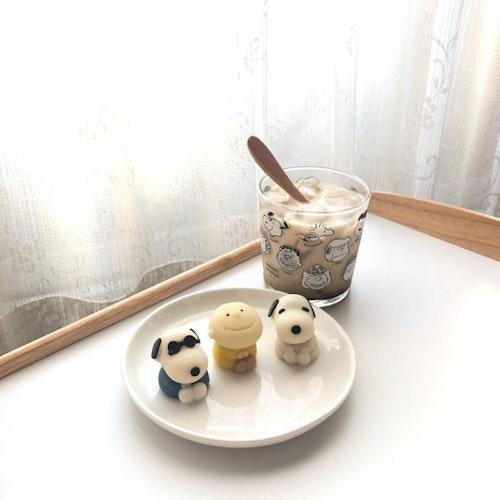 ローソンのスヌーピー和菓子