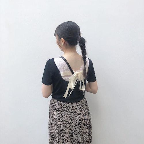 三つ編みポニー