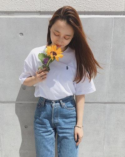 Tシャツ×デニム