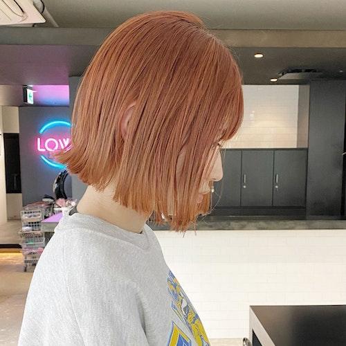 オレンジヘアカラー