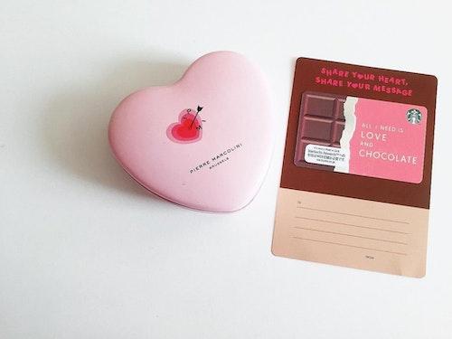 バレンタインのスタバカード